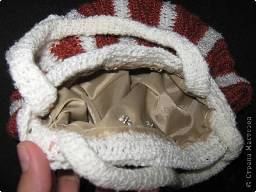 Из остатков ниток получилась вот такая сумочка фото 4