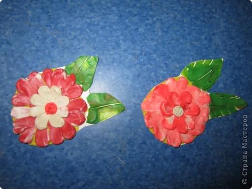 Пластилиновые цветы, выполнены детьми четырех лет. Подсмотрено здесь,спасибо за опыт. фото 1