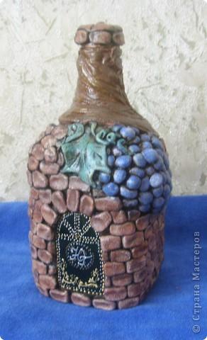 Бутылка из теста соленого своими руками