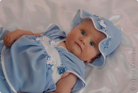 После рождения внучки Ксенечки у меня появилось желание сшить что-нибудь для нее,вот наше первое платье фото 2