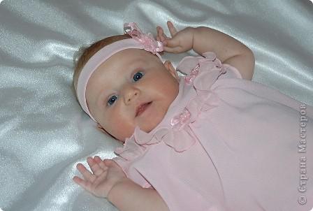 После рождения внучки Ксенечки у меня появилось желание сшить что-нибудь для нее,вот наше первое платье фото 1