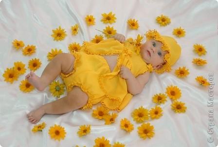 После рождения внучки Ксенечки у меня появилось желание сшить что-нибудь для нее,вот наше первое платье фото 3