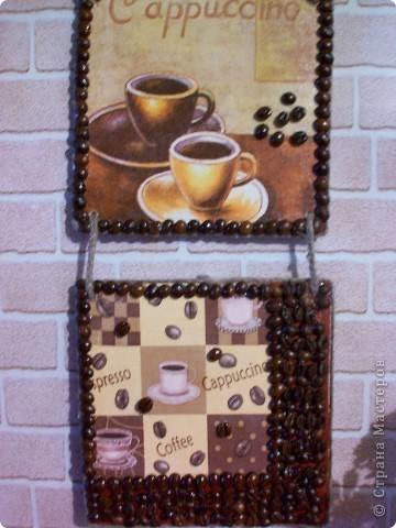 Набор на подарок из панно,кофейного дерева и баночки для кофе. фото 2