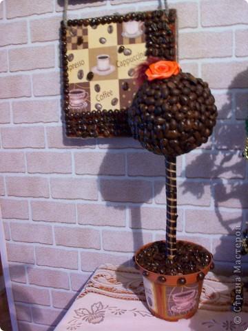 Набор на подарок из панно,кофейного дерева и баночки для кофе. фото 3