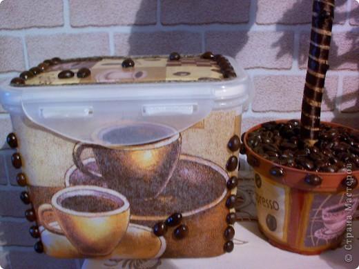 Набор на подарок из панно,кофейного дерева и баночки для кофе. фото 4