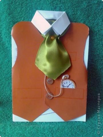 """Открытка - пиджак подарок другу на день рождения """" Поиск мастер классов, поделок своими руками и рукоделия на SearchMasterclass."""