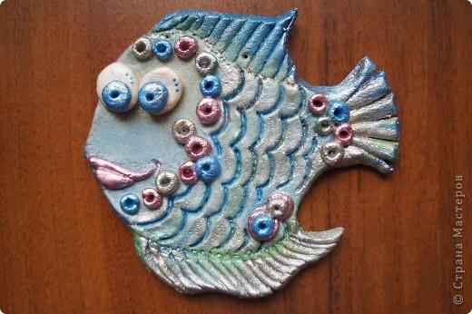 Рыбка, сделанная год назад наконец-то раскрашена)