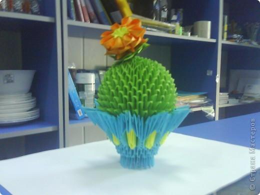 Понравился кактус http://stranamasterov.ru/technics/module_cactus, немножко убавила цветочков)) фото 1