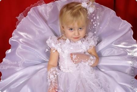 После рождения внучки Ксенечки у меня появилось желание сшить что-нибудь для нее,вот наше первое платье фото 6