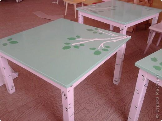 Вот такие столы появились у нас в группе)))
