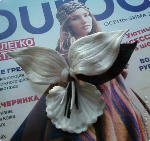 """Орхидея из кожи """"Кипи"""""""