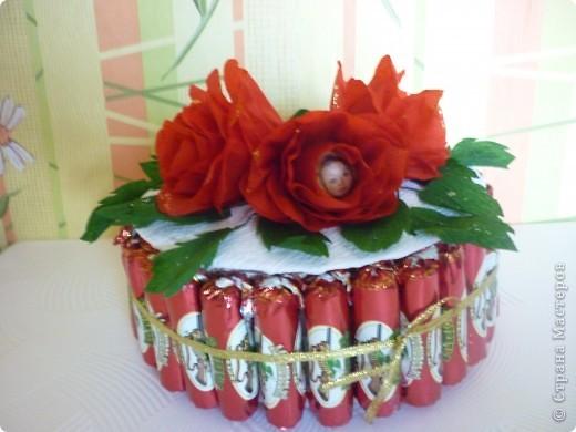 вот такой тортик мы с дочей подарили в садик воспитателям фото 2