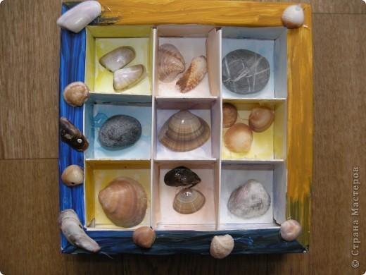 Как всегда привезли с моря мешок ракушек и камешков. Решила сделать из них такой сувенир. фото 1
