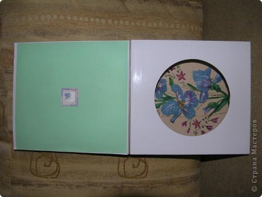 """Решила сделать из необычной коробки подарок на день учителя.  Это коробка """"анфас"""". Выполнена в технике декупаж. фото 3"""