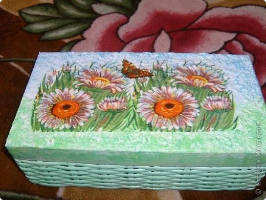 Коробочка для бисероплетения. делала в подарок,по этому нужно ваше мнение. фото 1