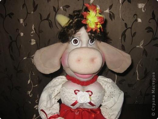 Здравствуйте ,дорогие мастерицы !Познакомтесь-это моя Кармен,коровка выполненная по МК Нины Семеновны.Спасибо ей ОГРОМНОЕ за замечательный МК!!! фото 3