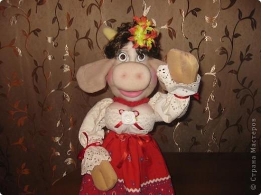 Здравствуйте ,дорогие мастерицы !Познакомтесь-это моя Кармен,коровка выполненная по МК Нины Семеновны.Спасибо ей ОГРОМНОЕ за замечательный МК!!! фото 6