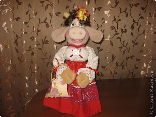 Здравствуйте ,дорогие мастерицы !Познакомтесь-это моя Кармен,коровка выполненная по МК Нины Семеновны.Спасибо ей ОГРОМНОЕ за замечательный МК!!! фото 4