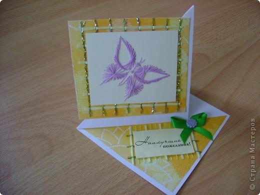 Скоро праздник День Учителя. Лена взяла на себя обязанность изготовления открыток для своих учителей.Вот уже сколько, но ещё не всем фото 5