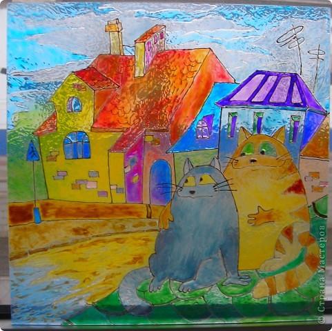 """Картинка """"коты на крыше"""" фото 2"""