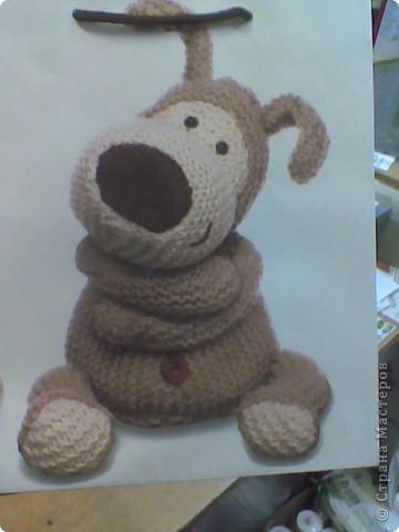 Коллега увидела на подарочном пакете фото игрушки и попросила связать такую же....)))) фото 1