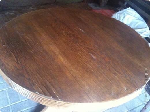 вот такой стол бил...решила переделать))) фото 1