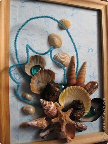 Летом отдыхали на море и привезли очень много разных красивых ракушек. И вот руки дошли до этого богатства, решили сделать вот такую красоту.  фото 2