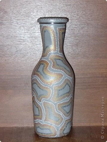 Такую бутылочку в африканском стиле сделала для сестры.  фото 2