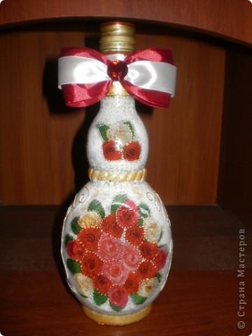 Здравствуйте, дорогие мои гости! Продолжаю осваивать декупаж и декорировать бутылочки. фото 1