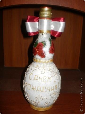 Здравствуйте, дорогие мои гости! Продолжаю осваивать декупаж и декорировать бутылочки. фото 2