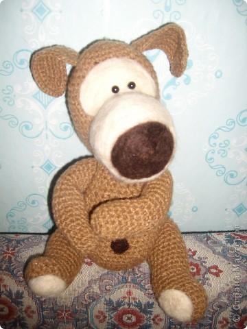 Коллега увидела на подарочном пакете фото игрушки и попросила связать такую же....)))) фото 2