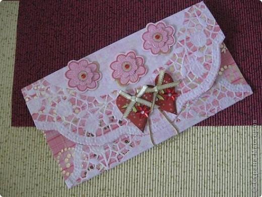 Вот такой конвертик для денег, сделала на свадьбу друзьям!