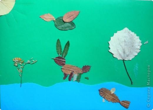 Продолжаю тему осенних листьев. В этот раз представляю работы второклассников. Зайчик Сергея Р. фото 3
