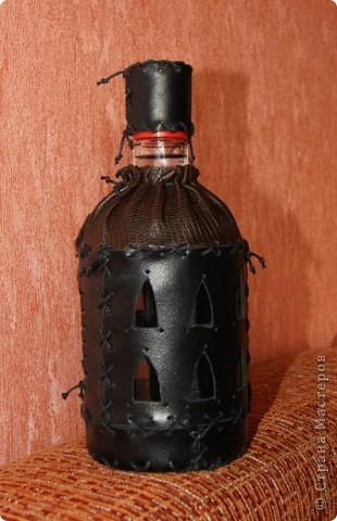 Такая вот бутылочка  уехала моему любимому дядьке в подарок! фото 3