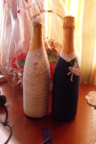 мои первые бутылочки на свадьбу - подарила сестре (вроде понравилось) ;)  (со вспышкой) фото 2