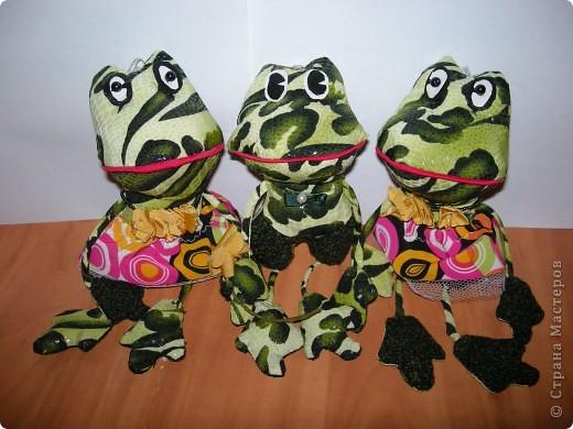 трио лягушат (парень и две девушки) фото 1