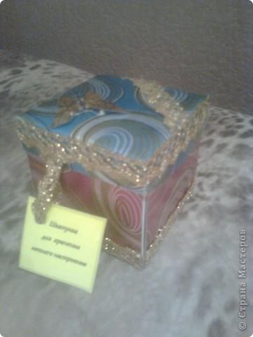 Вот и наша коробочка в подарок любимому учителю. Спасибо http://stranamasterov.ru/node/243667?c=favorite за идею. ) Мы её назвали :  шкатулка для хранения летнего настроении. Так на ярлычке и написали ) фото 1