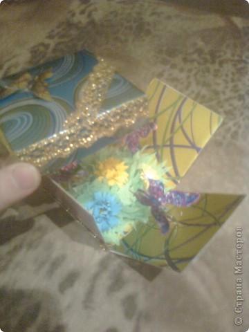 Поделка изделие День рождения День учителя Квиллинг Шкатулка в подарок Бумага фото 3.