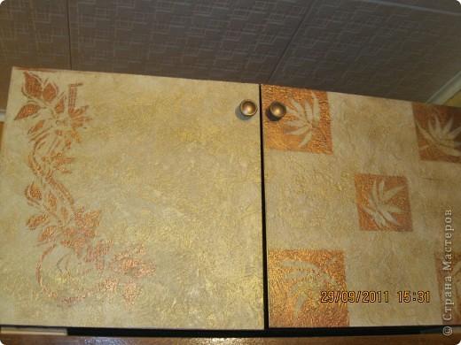 Обои шелкография, лежал остаток, решила обновить шкаф. фото 25
