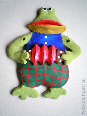 """Шить - не умею, а """"тильдовские"""" куклы вдохновили меня на таких вот персонажиков из глины. Использовалась белая глина """"Jovi"""", раскрашены акриловыми красками.     фото 4"""