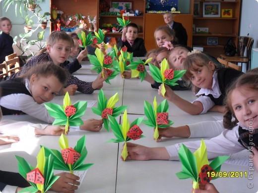 Детки делают кленовые листики. фото 6