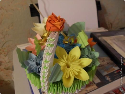 Осенняя корзинка с цветами фото 2