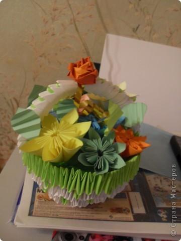 Осенняя корзинка с цветами фото 3
