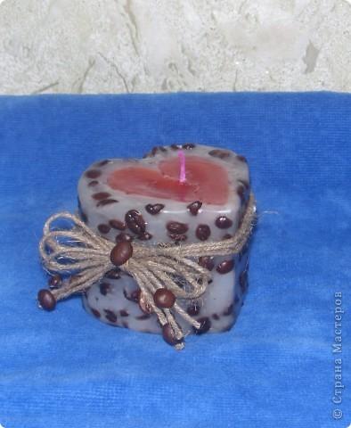 Вот такой подарочек я сделала своей снохе.надеюсь понравиться.свечу и кофейное дерево сделала впервые. фото 3