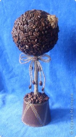 Вот такой подарочек я сделала своей снохе.надеюсь понравиться.свечу и кофейное дерево сделала впервые. фото 2