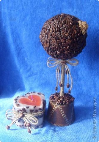 Вот такой подарочек я сделала своей снохе.надеюсь понравиться.свечу и кофейное дерево сделала впервые. фото 5
