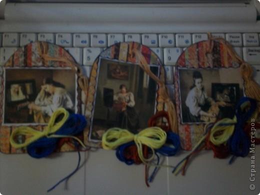Серия с использованием картин французского художника русского происхождения Сергея Иванова. Картинок всего 3, поэтому чтобы получилась полноценная серия и повторила каждую дважды. 3 карточки первой части серии.  фото 1