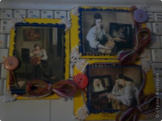 Серия с использованием картин французского художника русского происхождения Сергея Иванова. Картинок всего 3, поэтому чтобы получилась полноценная серия и повторила каждую дважды. 3 карточки первой части серии.  фото 2