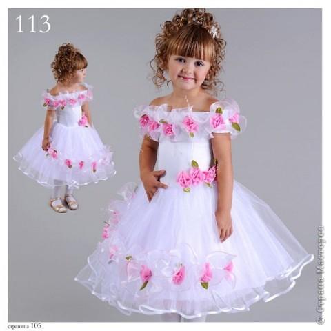 вот  такое платье я сшила на день рождения нашей крестнице. фото 6