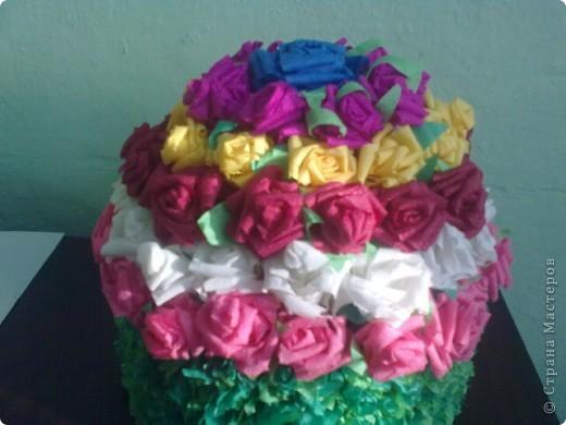 Цветочный тортик фото 1